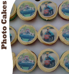 personalised cakes, photo cakes